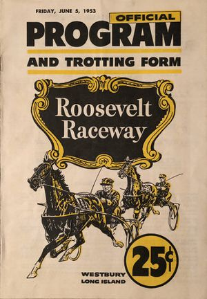 Roosevelt Raceway Official Program for Sale in Miramar, FL