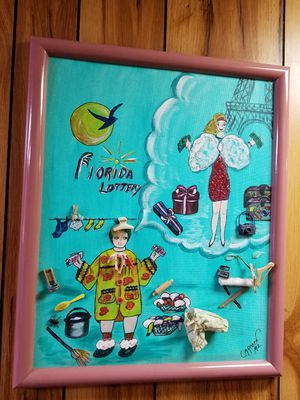 Florida Lottery oil painting for Sale in Hialeah, FL