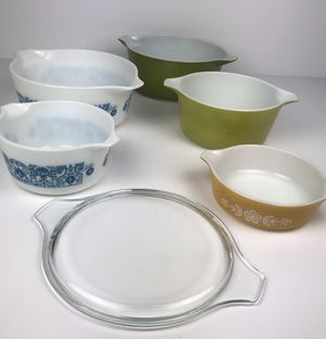 Lot of Vintage Pyrex Cinderella Nesting Bowls with Lid - 6 Pieces Total for Sale in Rancho Santa Margarita, CA