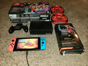 Nintendo switch with dock plus 5 games for Sale in Carrollton, TX