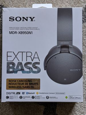 Sony MDR-XB950N1 EXTRA BASS™ Wireless Noise-Canceling Headphones for Sale in New Brunswick, NJ