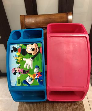 KIDS ACTIVITY TRAY / PORTABLE SNACK TRAY / TODDLER TRAY EACH $4 OR $7 BOTH for Sale in Hialeah, FL