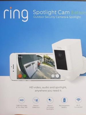 Ring Spotlight Cam Outdoor Security Camera for Sale in Chino, CA