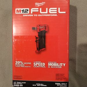 """Milwaukee M12 FUEL 1/4"""" Right Angle Die Grinder for Sale in Portland, OR"""