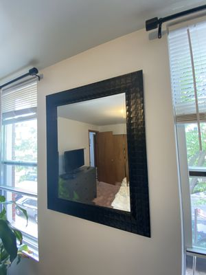 Black Textured Framed Rectangle Mirror for Sale in New York, NY