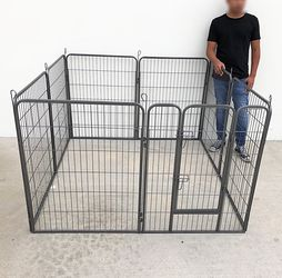 """$110 New In Box 8-Panel Dog Playpen, Each Panel 40"""" Tall X 32"""" Wide Heavy Duty Pet Exercise Fence Crate Kennel Gate for Sale in Whittier,  CA"""