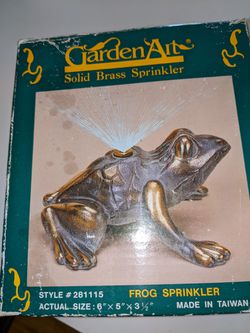 Vintage Garden Art solid brass frog sprinkler for Sale in Mount Vernon,  NY