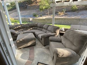 Couch Set with Ottoman and Recliner for Sale in San Dimas, CA