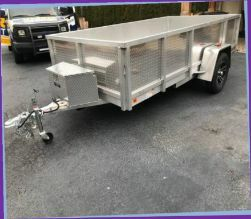 $800 Aluminum Trailer VERY WELL, GREAT CONDITION for Sale in Monson, ME