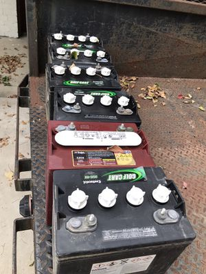 Used golf cart batteries set of 6 8volt batteries strong for Sale in Fort Worth, TX