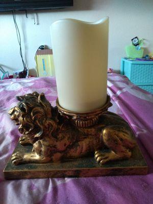 Lion candle holder for Sale in IND HBR BCH, FL