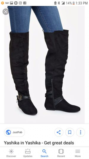 Black suede knee high boots for Sale in Denver, CO