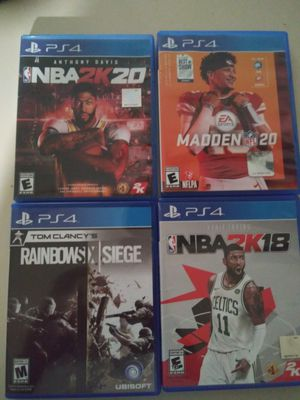 Ps4 games for sale cheap...30$ for all 4 for Sale in San Angelo, TX