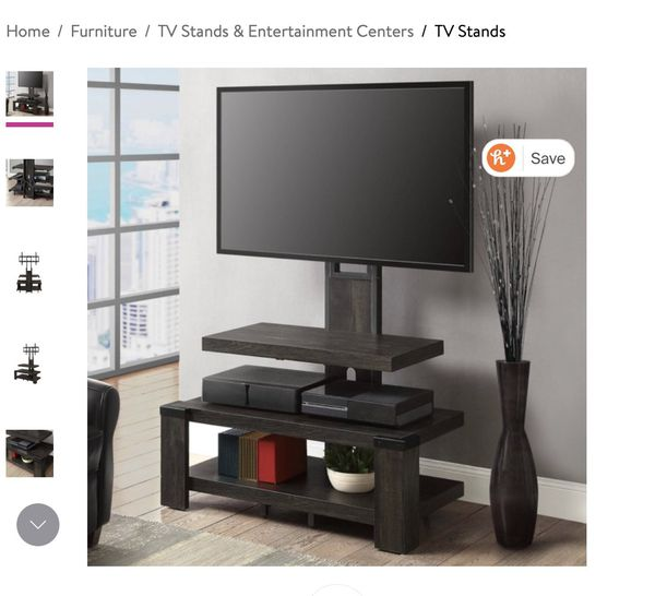 Whalen Furniture 3-shelf TV stand up to TV 55""