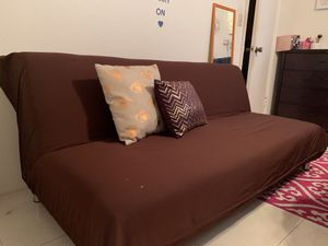 Futon brown full sized with removable cover for Sale in Davie, FL