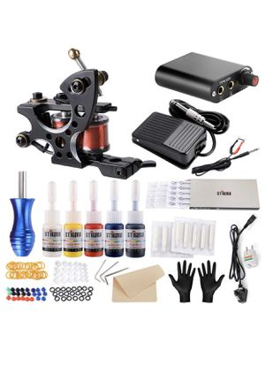 Stigma Tattoo Kit Complete Coil Tattoo Machine for Beginner Power Supply 5 Inks Disposable Needles Tattoo accessories TK-ST110 for Sale in Palatine, IL