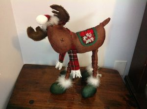 """Holiday decor moose decoration Christmas decorations about 19"""" tall for Sale in Largo, FL"""