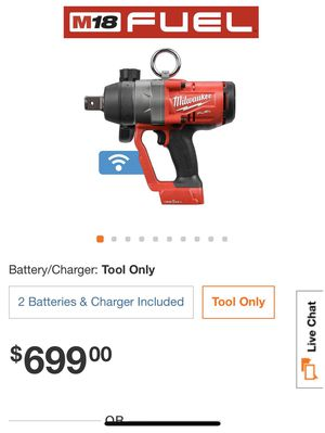 M18 ONE-KEY FUEL 18-Volt Lithium-Ion Brushless Cordless 1 in. Impact Wrench with Friction Ring M18 18-Volt Lithium-Ion HIGH OUTPUT XC 8.0Ah Battery for Sale in Los Angeles, CA