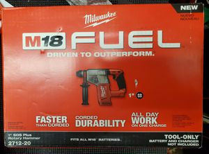 """milwaukee m18 fuel 1"""" sds plus rotary hammer for Sale in Lombard, IL"""