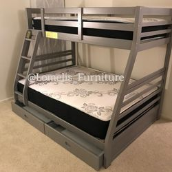 Twin/full size Bunkbeds With MATTRESSES Included for Sale in El Monte,  CA
