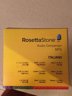 Rosetta Stone Italians Audio Campanion MP3 for Sale in Midlothian, VA