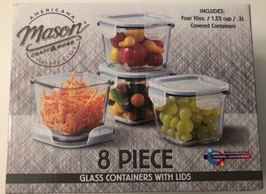 8 piece Mason glass containers (new) for Sale in Philadelphia, PA