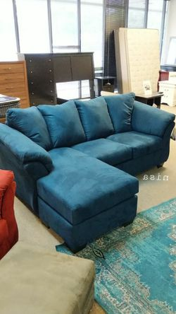 🍷$39 Down Payment . 🍷🍷SPECIAL] Darcy Blue Sofa Chaise for Sale in Beltsville,  MD