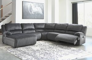 Sectional sofa 3 recliners Take it home today Romeo's Furniture for Sale in Madera, CA