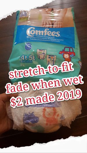 19 counts diaper. brandnew, 4t-5t, 38+ lbs. 17+kg. fade when wet. total 50 items. for Sale in Plano, TX