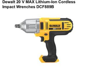 20-Volt MAX Lithium-Ion Cordless 1/2 in. High Torque Impact Wrench with Detent Pin (Tool-Only) for Sale in Norristown, PA