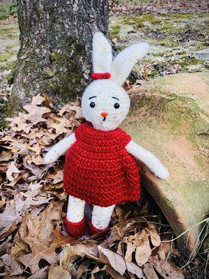 Handmade Amigurumi Crochet Bunny, Amigurumi Stuffed Animals, Crochet Dolls, Handmade Dolls Fox Penguin Bear Dog Cat, Amigurumi Disney Characters for Sale in Wilmington, MA