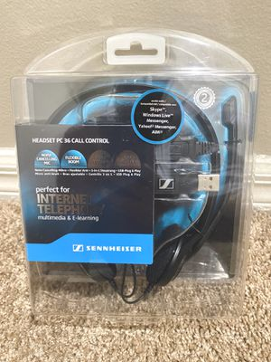 Sennheiser PC 36 Call Control Binaural USB Headset for Sale in Boynton Beach, FL