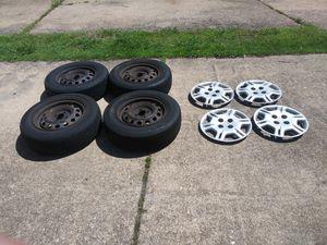 4 Tires/Rims/Caps fits Honda size 185/70R14 for Sale in Virginia Beach, VA