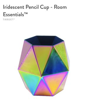 Iridescent Pencil Cup Holder for Sale in Orlando, FL