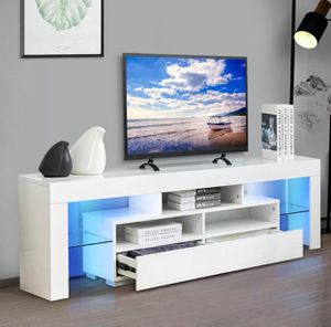 New white tv stand entertainment center wall unit 63 inches for Sale in Orlando, FL