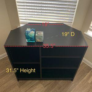BLACK TV Unit Corner Cabinet Shelf Book Shelf Storage Organizer Pick Up Katy for Sale in Katy, TX