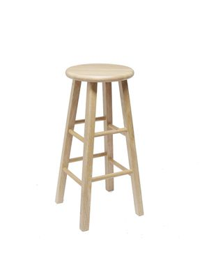 "Mainstays Fully Assembled 29"" Natural Wood Bar Stool for Sale in Layton, UT"