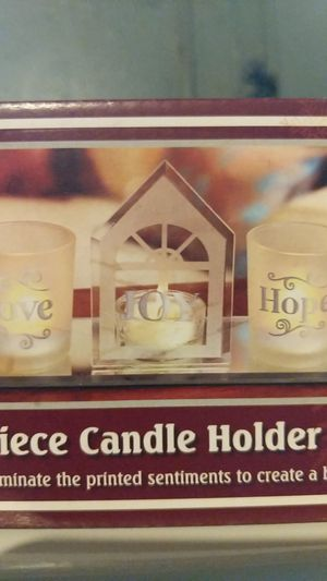 Love joy Hope for Peace candle holder set never opened for Sale in Hazelwood, MO