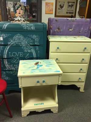 Dresser set mermaid theme with starfish hardware for Sale in Fort Wayne, IN