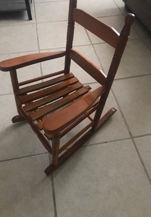 Kids wooden rocking chair for Sale in Las Vegas, NV