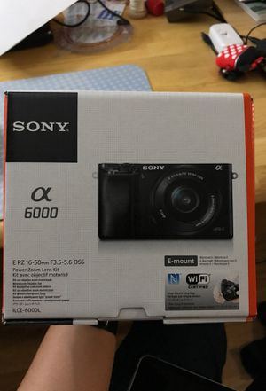 NEW - SONY Alpha A6000 SLR Camera with 16-50mm Power Zoom Lens for Sale in Las Vegas, NV
