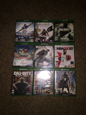 ALL GAMES BUNDLE 75$-ALSO SOLD INDIVIDUALY for Sale in Battle Ground, WA