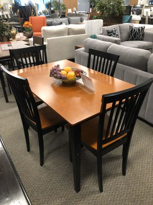 5-Piece Dining Set Tobacco And Black for Sale in Pleasanton, CA