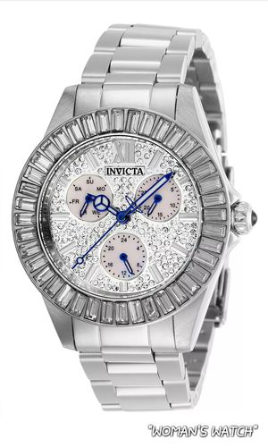 """""""👩 🚺 LADIE'S BRAND NEW NICE FANCY EYE CATCHING INVICTA SILVER-TONE & CRYSTAL'S WATCH."""" for Sale in Hazard, CA"""