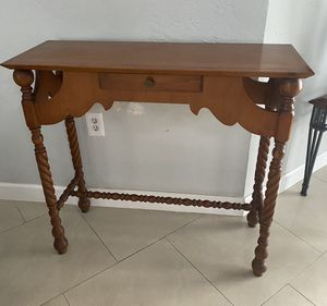 Vintage Wood Console Table for Sale in Miami, FL
