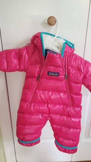 Patagonia Hi Loft Down Sweater Bunting Pink Snowsuit Size: NB for Sale in Baldwin, NY