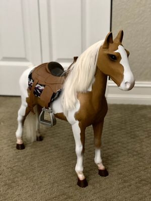 Our Generation Appaloosa horse with accessories package for Sale in FL, US