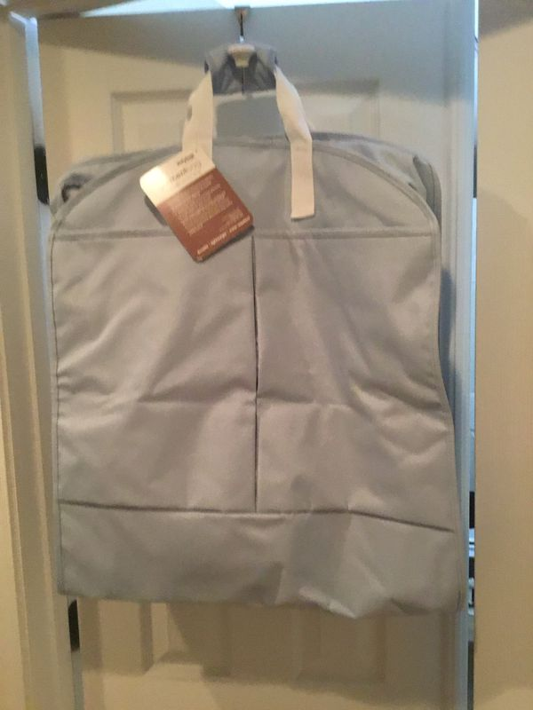 Garment bag with matching toiletry bag