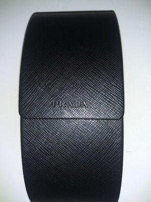 PRADA Black Curved Textured Hard Sunglasses Eyeglasses Magnetic Case for Sale in Bradenton, FL