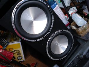 """(2) 12"""" SUBWOOFERS WITH BOX *HIT HARD!!!* for Sale in Los Angeles, CA"""